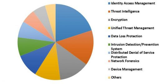 China IoT Security Market Revenue Share by Solution– 2015 (in %)